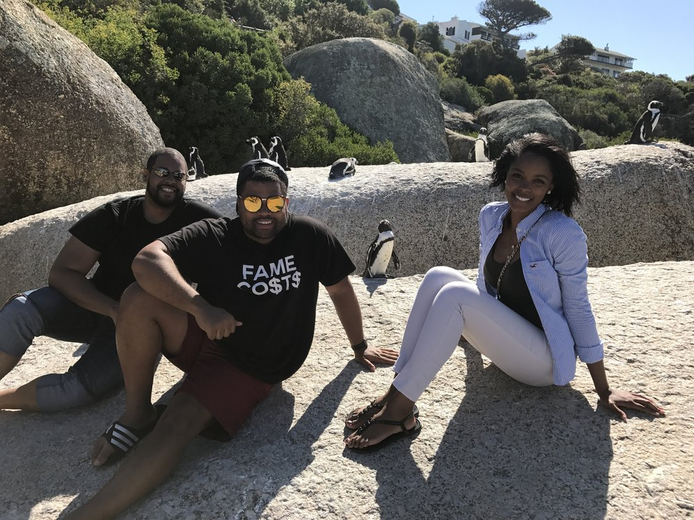 Chillin' with some rogue penguins at Boulders Beach.