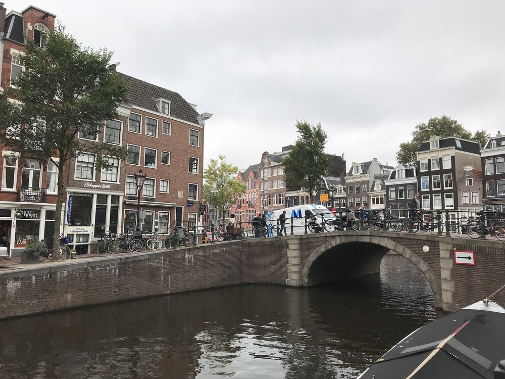 The many bridges of Amsterdam provide charm to the city.