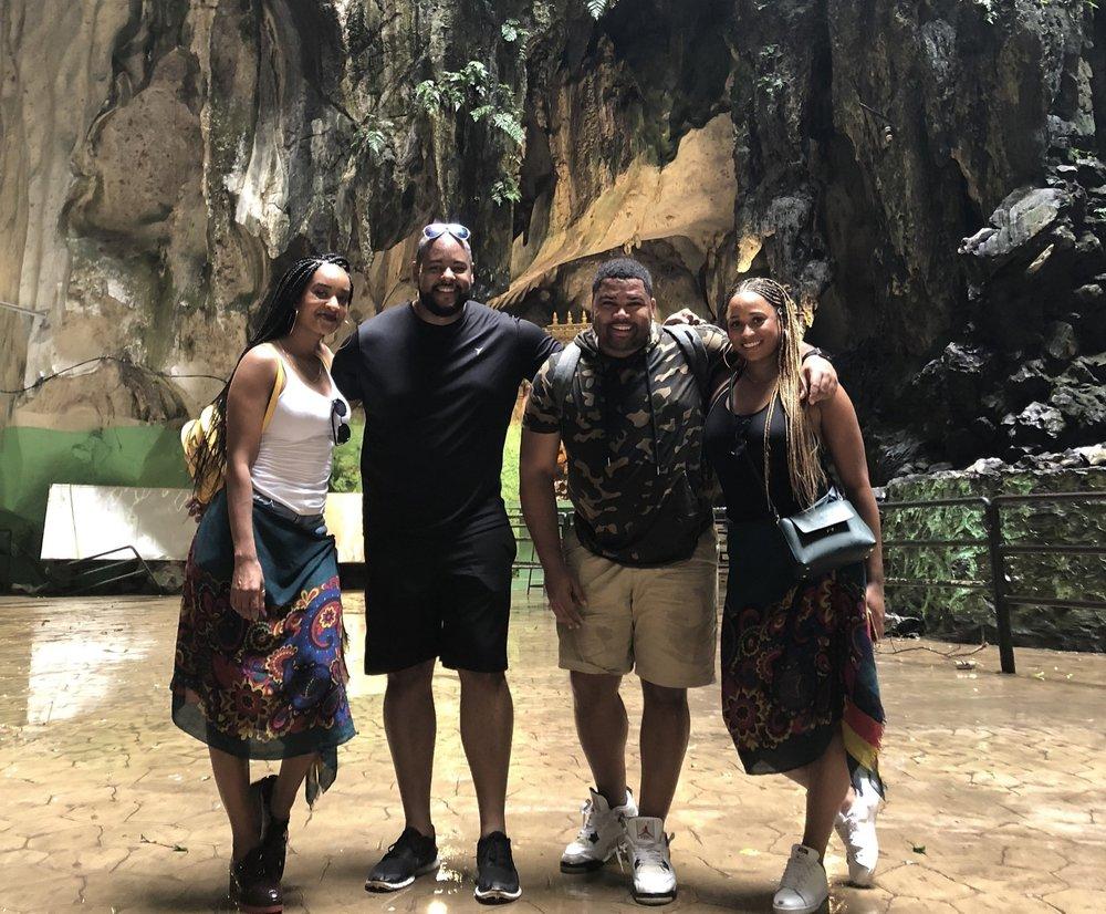 Batu Caves at top