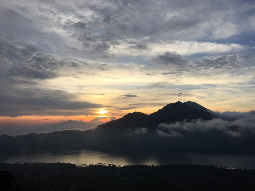 The view from the top of Mt. Batur. Breathtaking