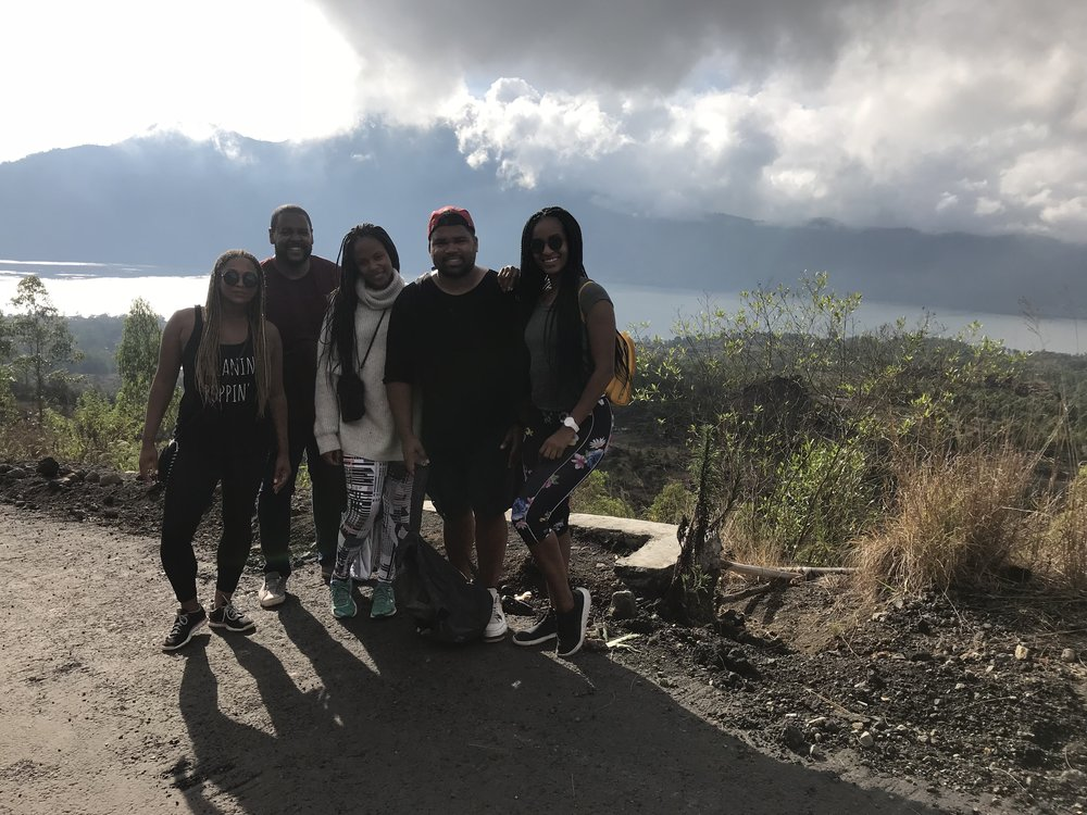The group when we were halfway on our way back down Mt. Batur.