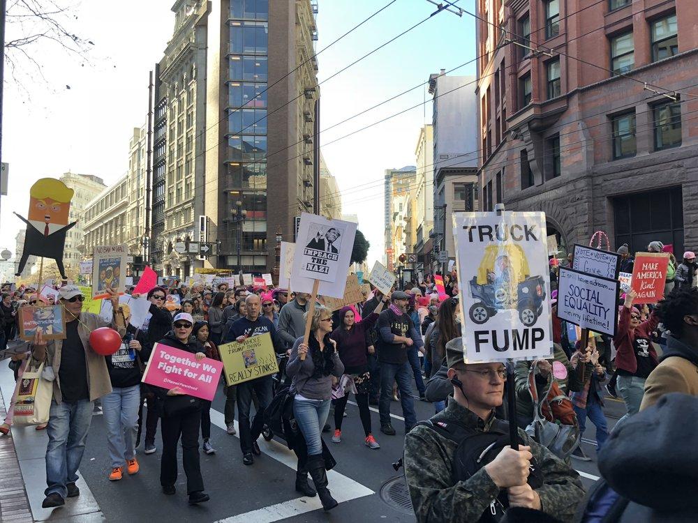 Women's March in San Francisco, January 2018