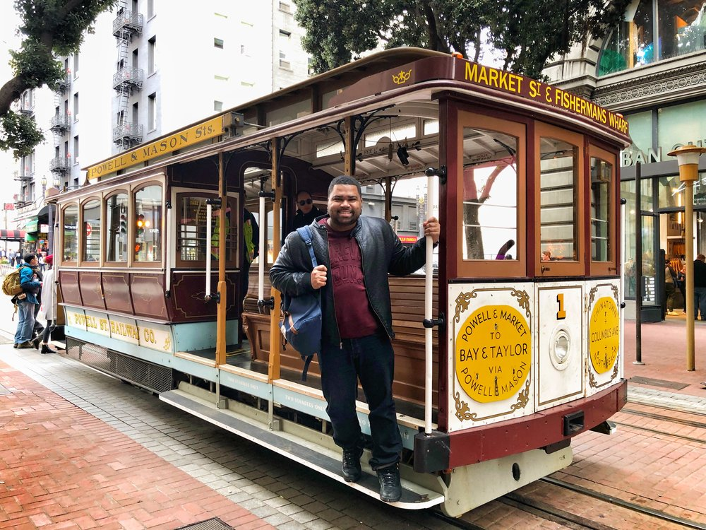 While in San Francisco, I took one of their famous cable cars from Fisherman's Wharf to Union Square.