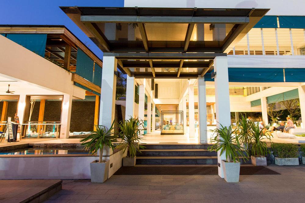 Entrance to the x2 Vibe Phuket Patong hotel.