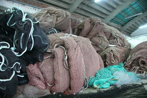 image of recycled fishing nets