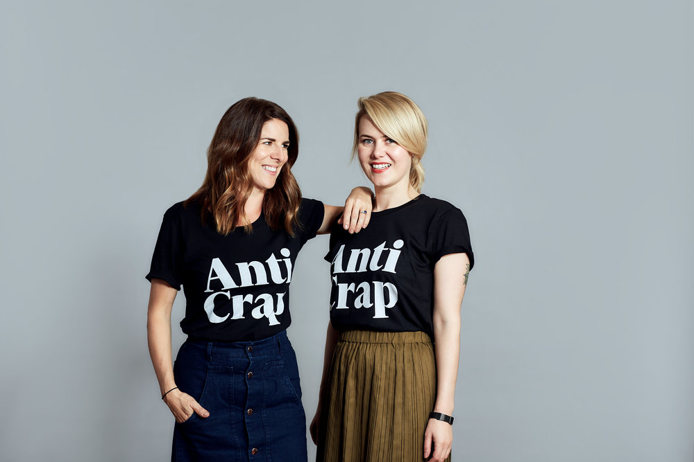 Charlotte on the left and Amanda on the right, Co-founders of Bob