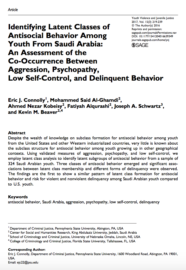 self control and criminal behavior Western criminology review 9(2), 73–87 (2008) family structure and parental behavior: identifying the sources of adolescent self-control kelli phythian.