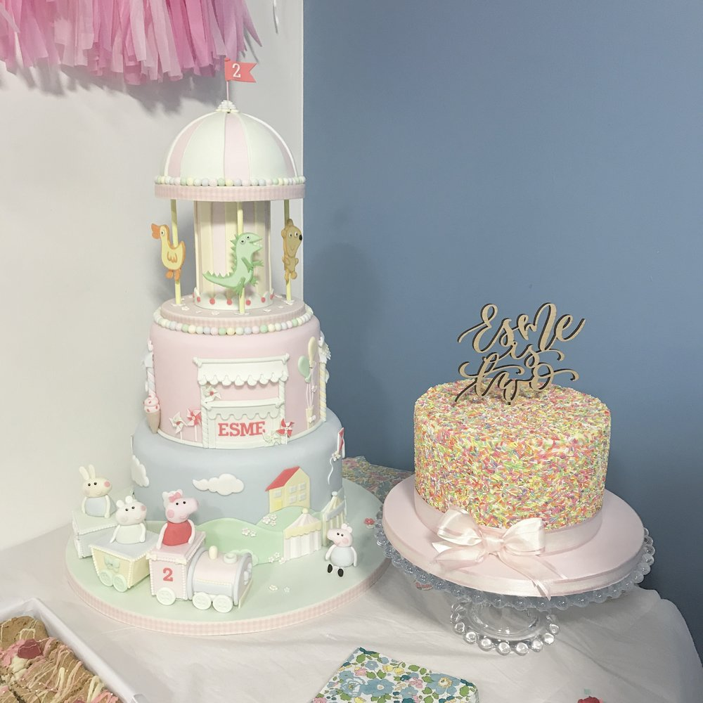 Party inspiration for girls. Girls party planning and styling ideas. With Peppa Pig styling for a Peppa pig themed birthday party.