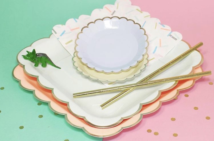 Gold edged partyware