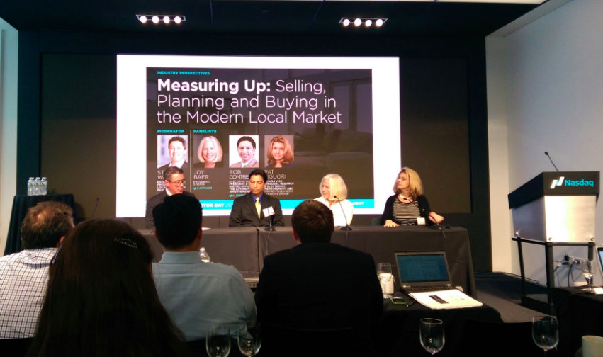 Co-founder, Rob Contreras, as an expert panelist at Rentrak's Investors Meeting at Nasdaq.