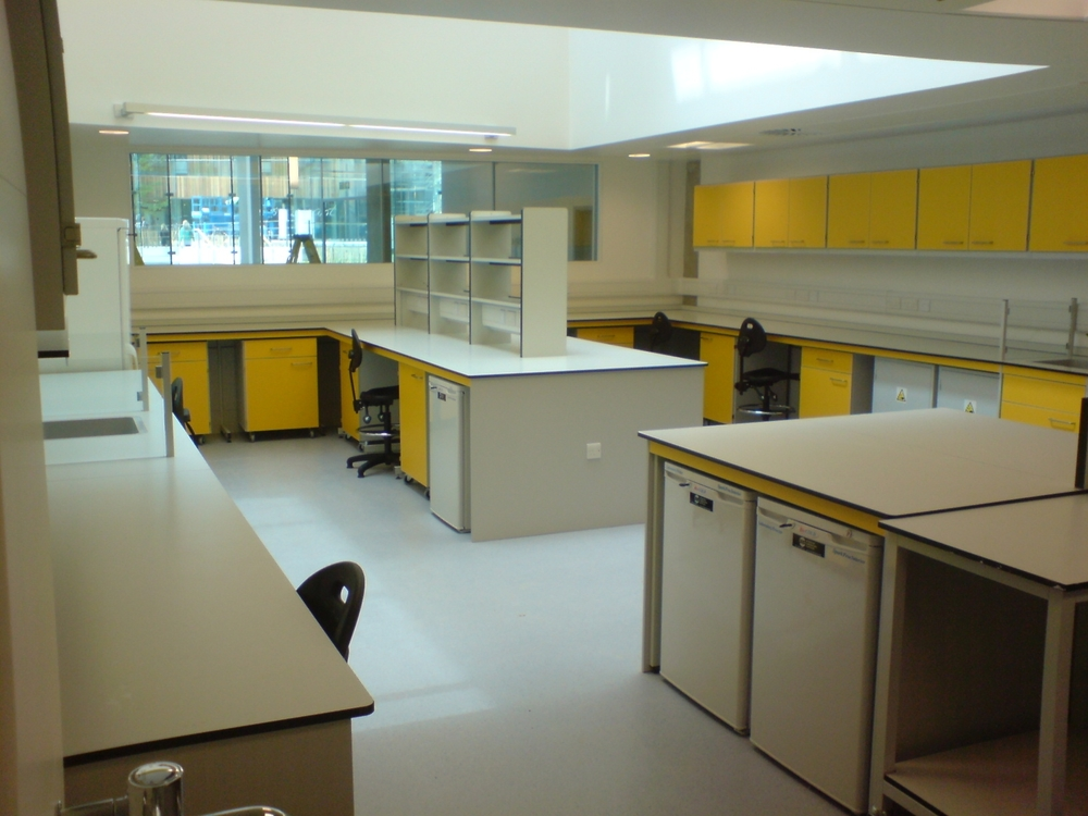 AJT Laboratory Furniture Design School Refurbishment Trespa Worktops Associated Joinery Techniques