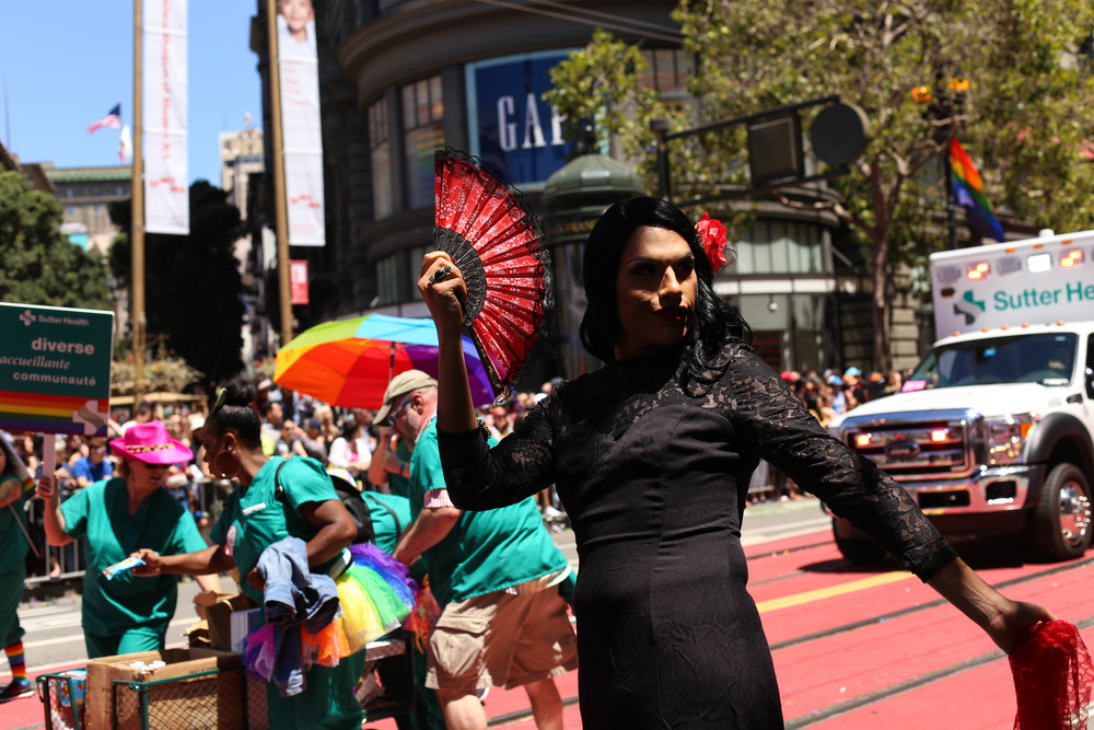 Parader during the San Francisco Pride Parade on Sunday, June 26, 2016.