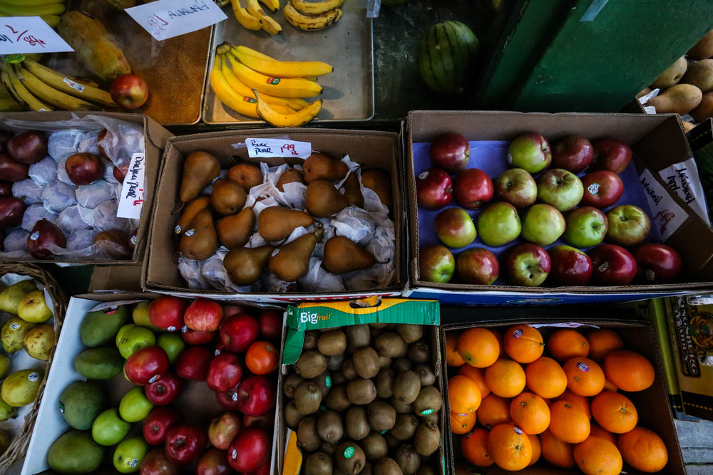 Courtney's Produce. Monday, January 2, 2017 San Francisco, California (Jessica Webb)