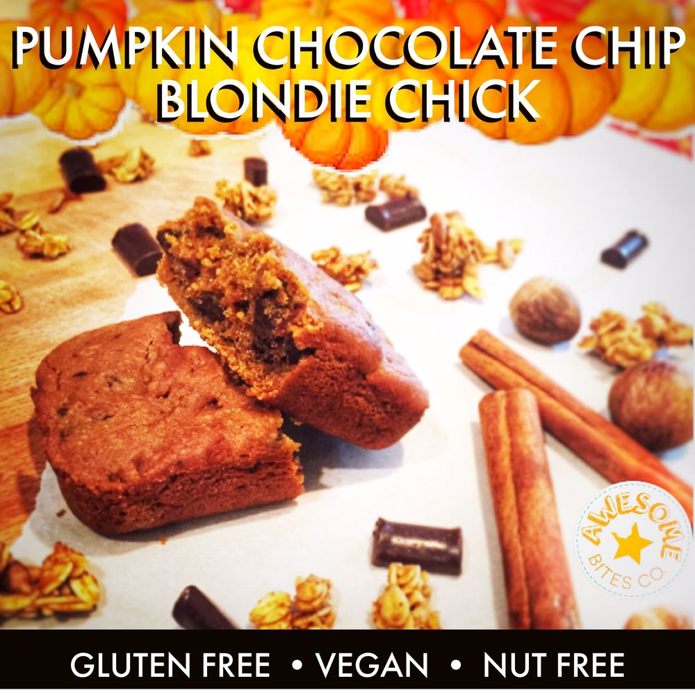 Pumpkin Chocolate Chip Blondie Chick Bars (SEASONAL)