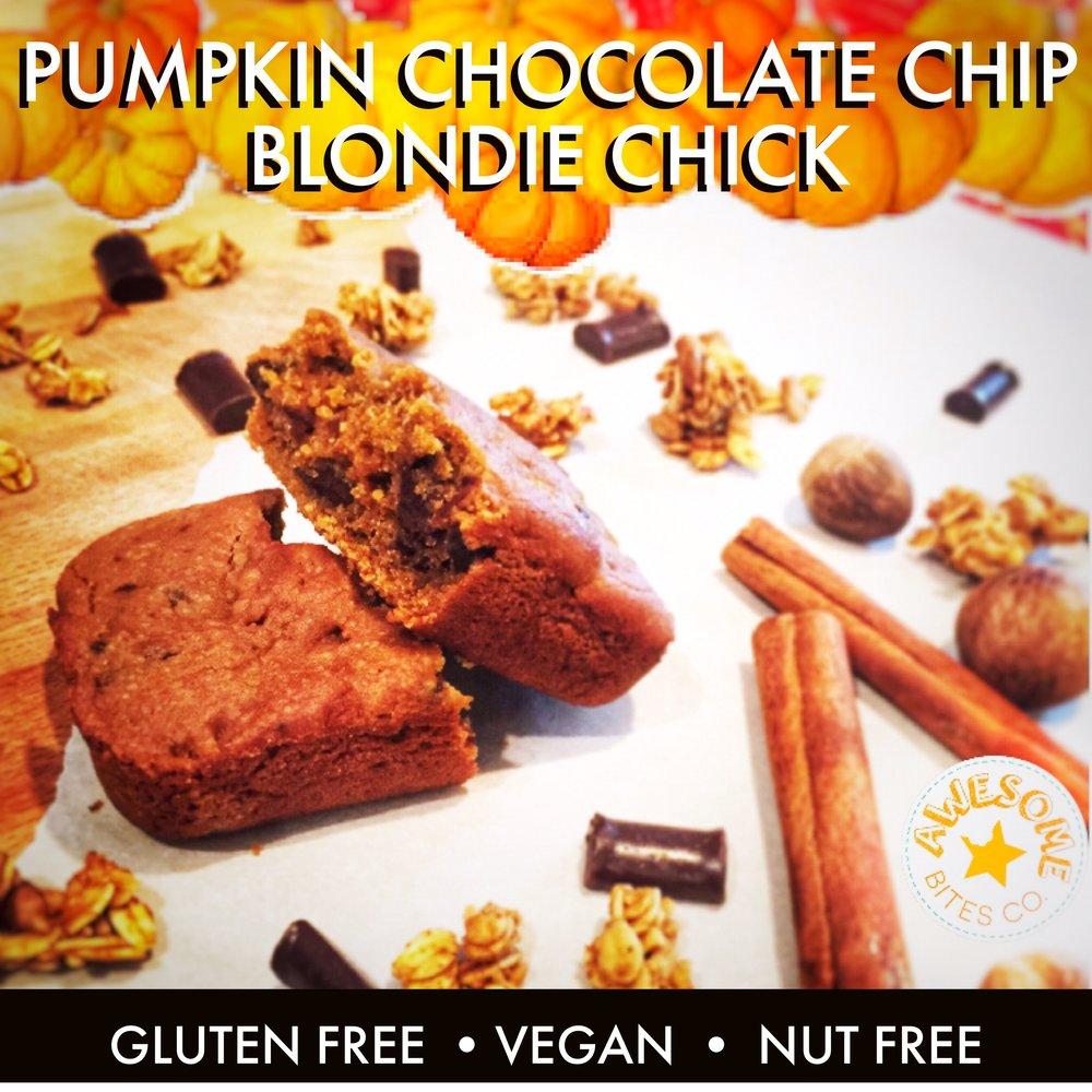 Pumpkin Chocolate Chip Blondie Chick Bars
