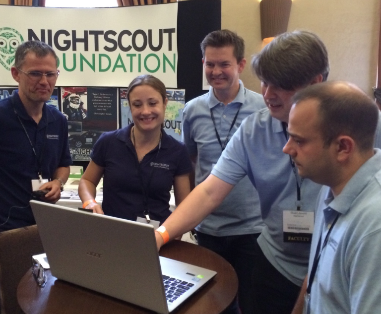 Nightscout UK Faculty planning a presentation.