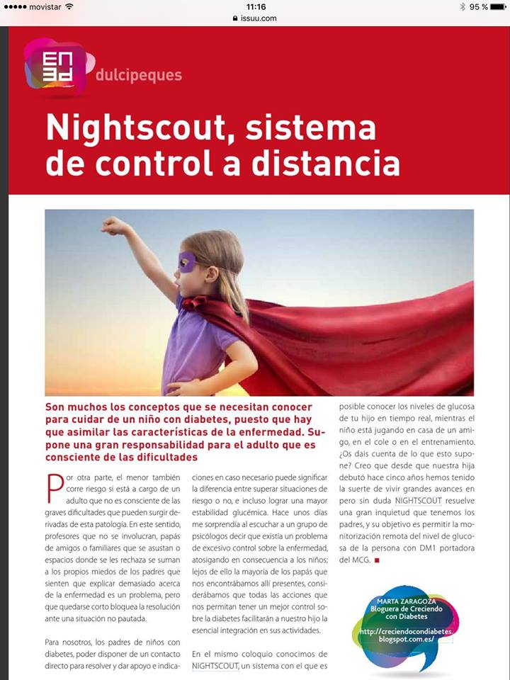 The national media in Spain took note of Nightscout España.