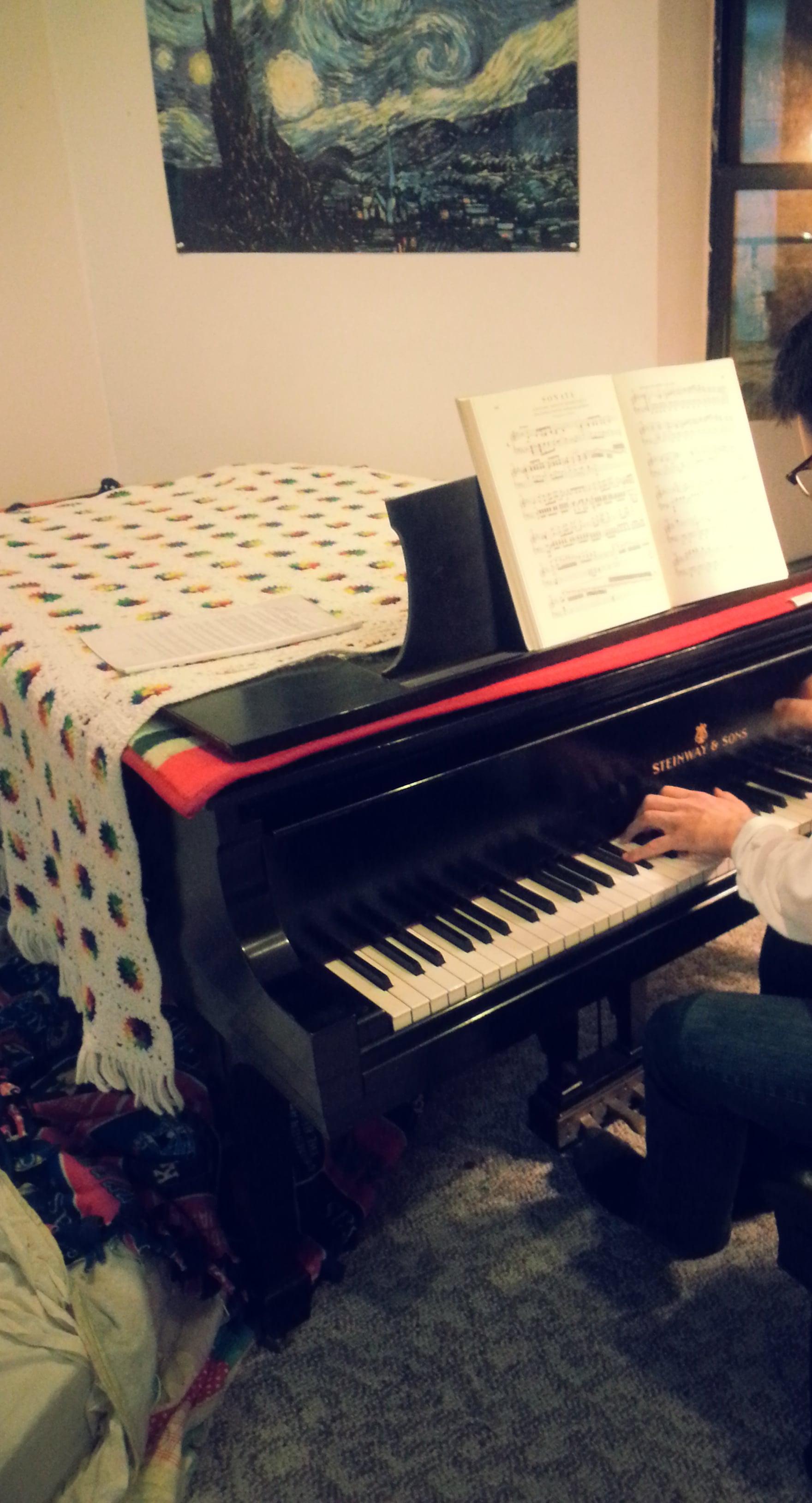 h at piano
