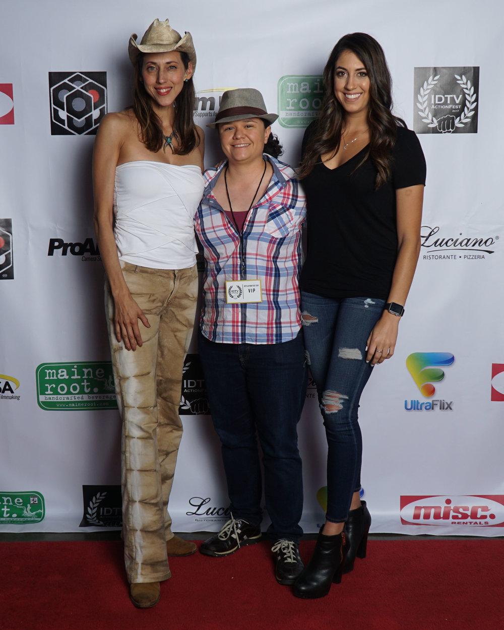 Patricia Vonne, Caitlin Dechelle, and guest