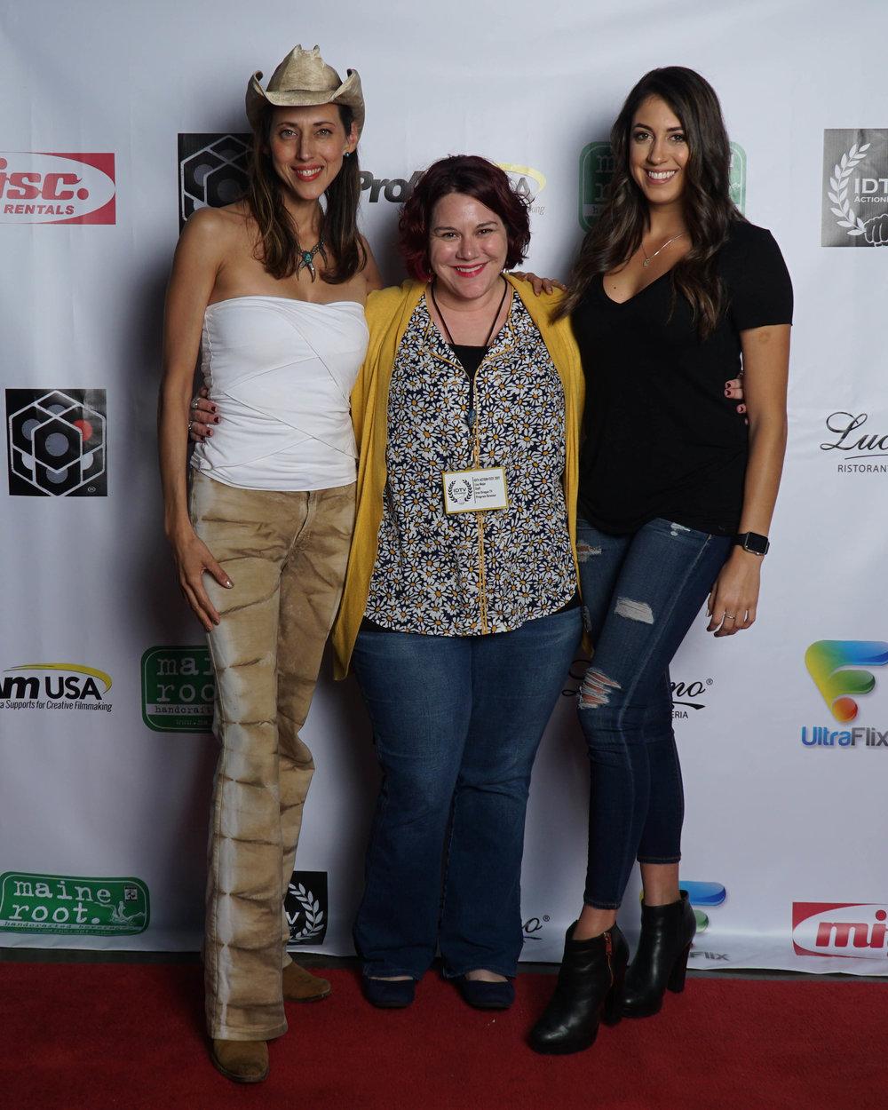 Patricia Vonne, Lisa Mejia, and Caitlin Dechelle