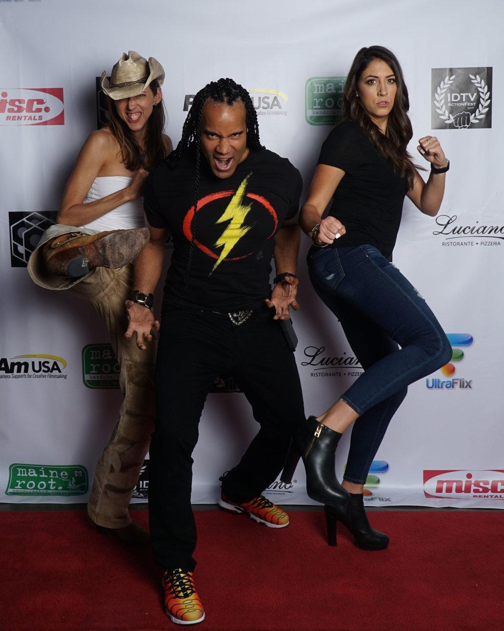 Patricia Vonne, TJ Storm, and Caitlin Dechelle