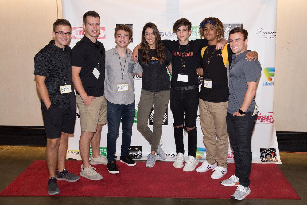 Jake Presley, Caitline Deschelle, and guests