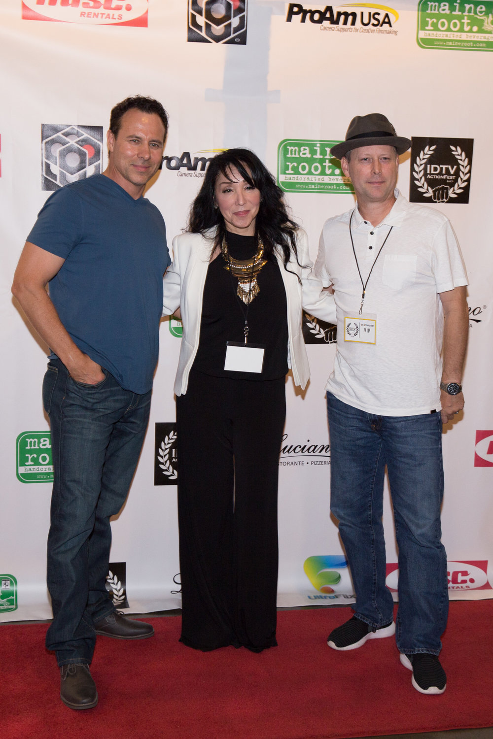 writer Larry Coulter, Janell Smith, and director Clayton J. Barber