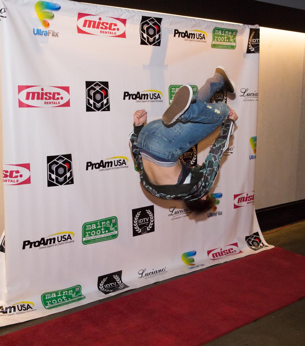 Jake Presley, mid flip