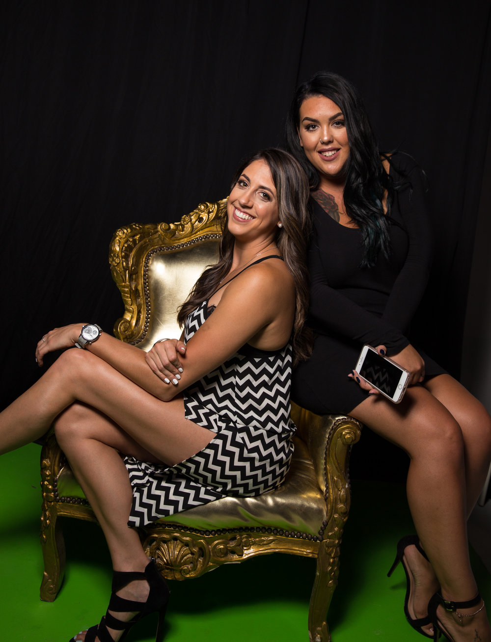 Caitlin Dechelle and guest