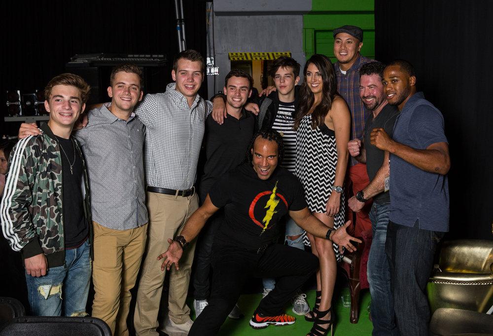 Jake Presley, Seth Lee, Caitlin Dechelle, Carmichael Simon, TJ Storm, and guests