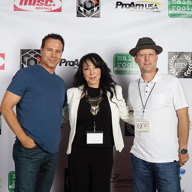 @janell001 with Larry Coulter and Clayton Barber from last night. Great film submission from both of you. Thank you so much for coming. 📷: @zeeeev  #idtvactionfest2017 #actionfilm #atx #filmfestival #martialarts