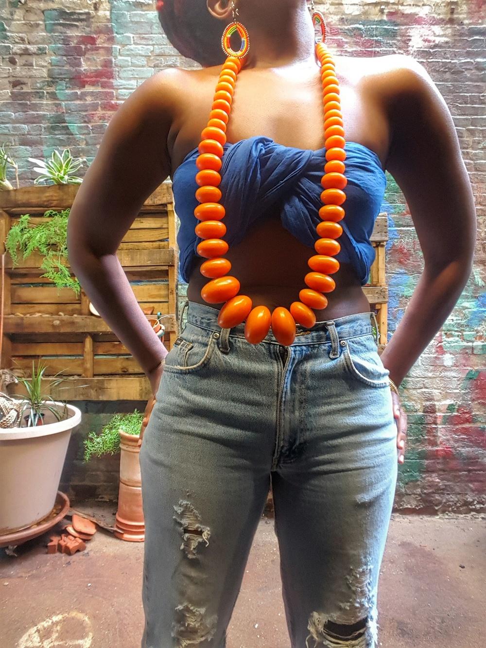 Queen adwoa's Closet Amber Necklace