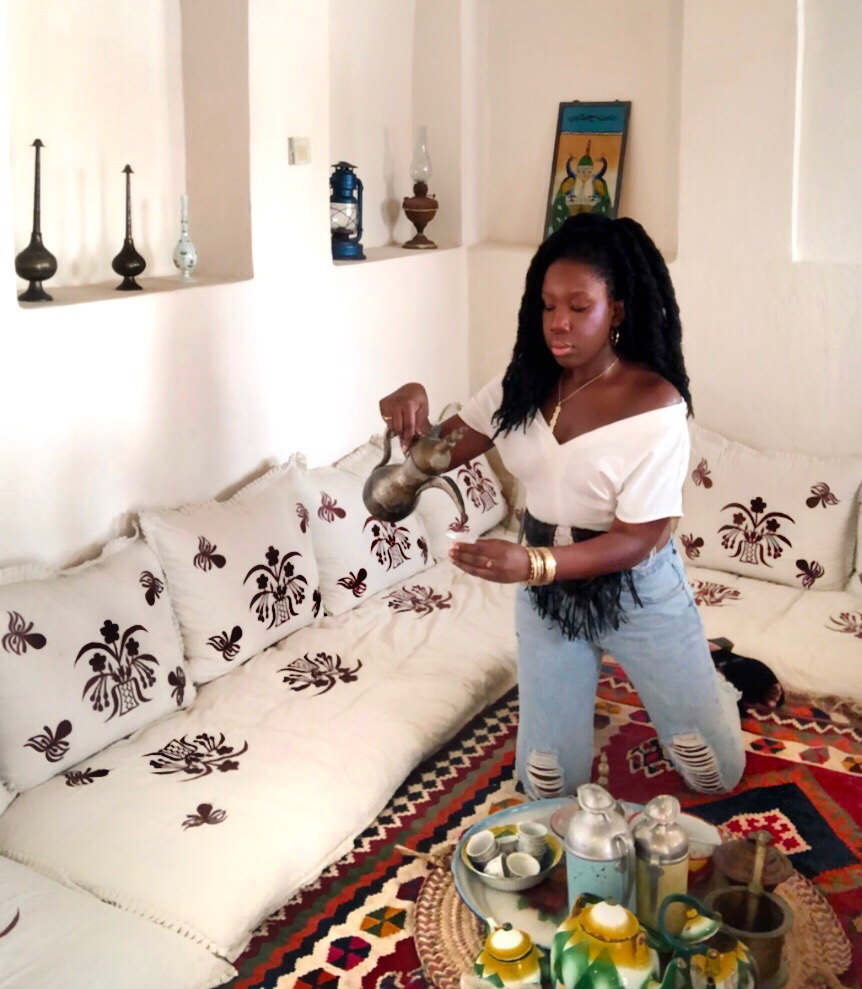 Queen Adwoa's Closet owner Angela Barimah in Balinese Fanny Pack 6.JPG