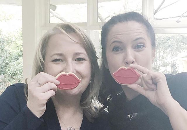 Two of our faves @thepolkadotapple & @louiseowens_readme showing us their lips for @liptember • All proceeds from lip cookie boxes ordered go to this amazing cause!!!