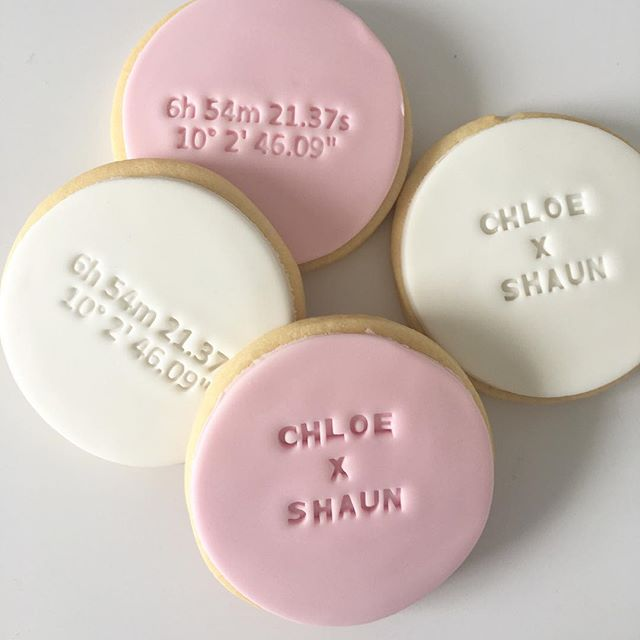 Wedding cookies for such a special couple!! Special mention to @sweetsavannacookies for the ⭐️ navigation points custom cutter