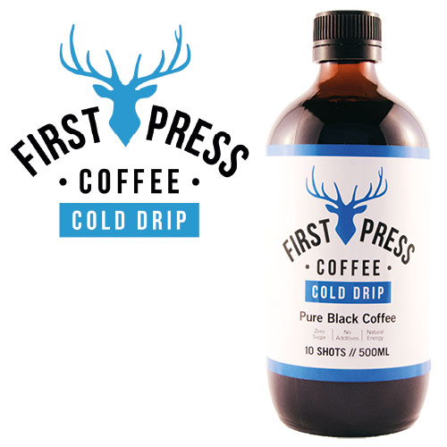 First Press Coffee is made by slowly dripping pristine cold filtered water over the finest quality single origin coffee for ten hours.