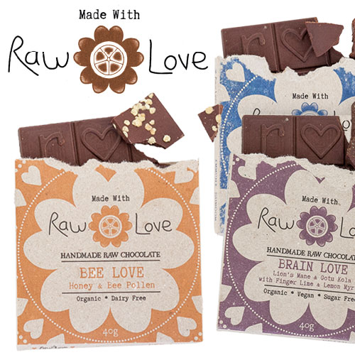 Made with Raw Love Chocolate is sugar free and diabetic friendly (excludes Bee Love). 10% of all profit goes to charity