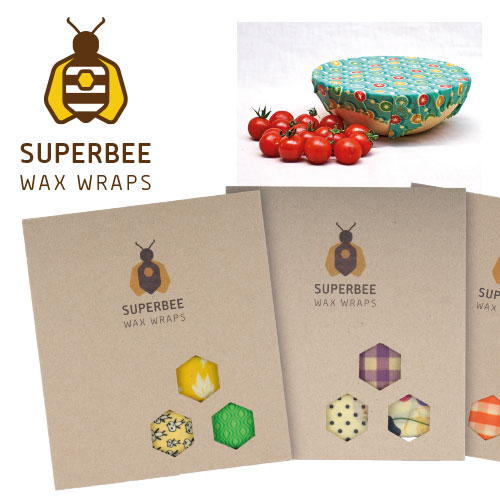 Superbee reusable beeswax wraps are the perfect eco friendly alternative to plastic wrap and plastic containers.
