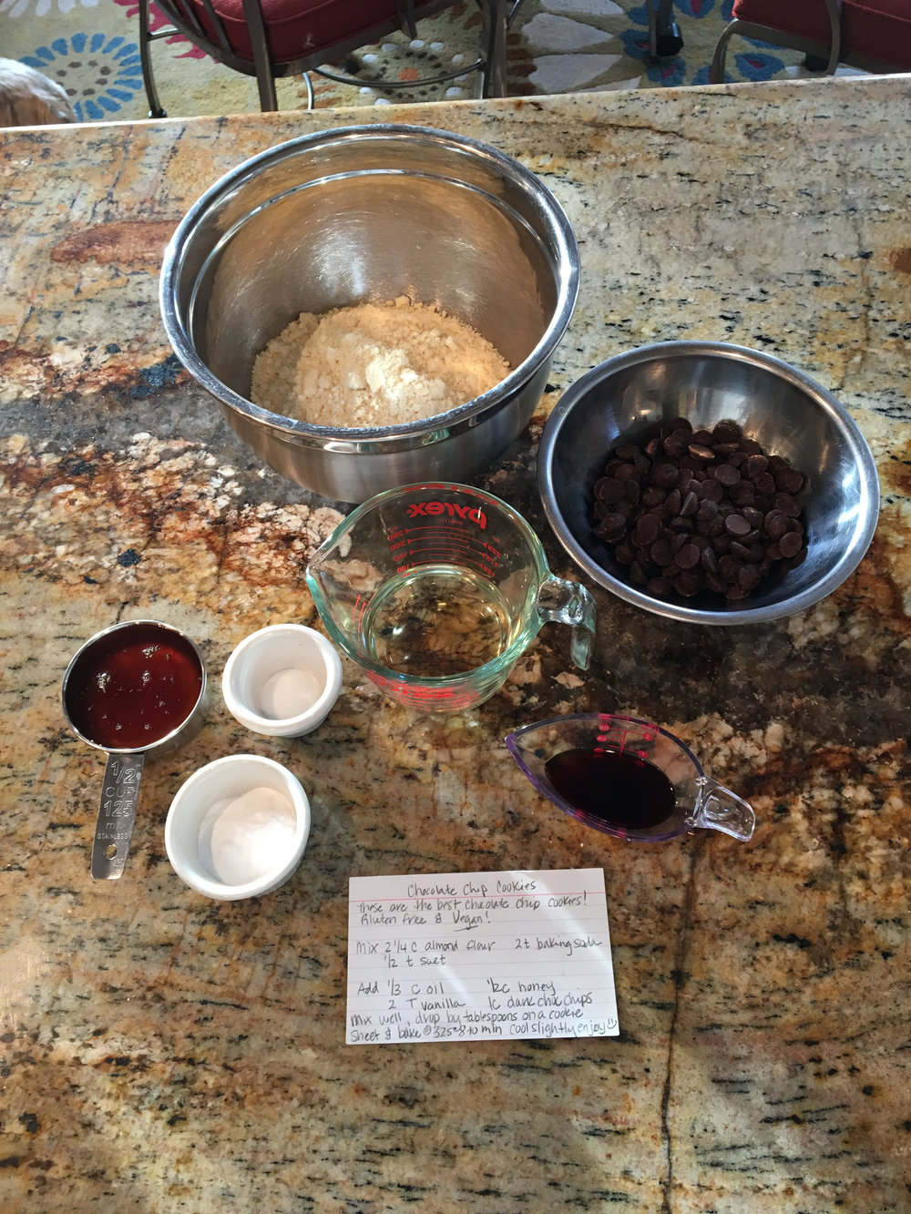 Choc chip cookies - ingredients staged.JPG