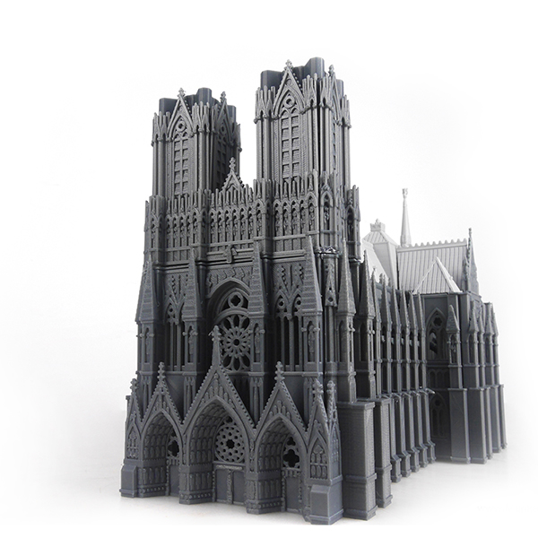 The Cathedral of Reims - 3D Printed by Mankati Fullscale XT Plus