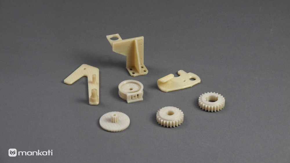 3D printed nylon parts by Mankati E180