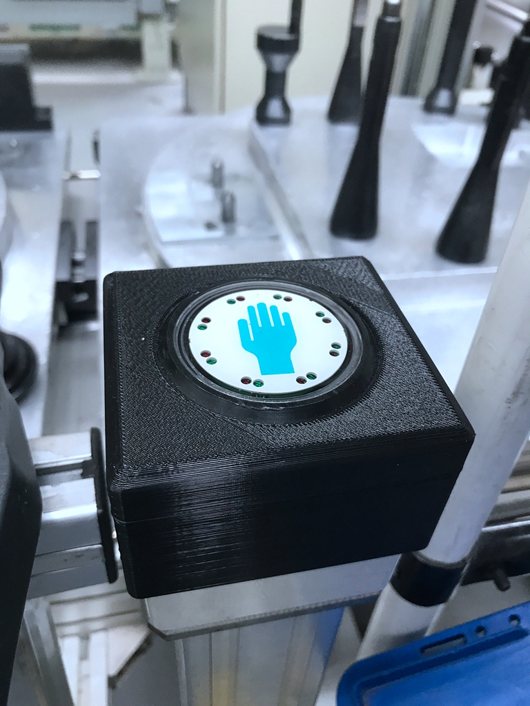 Operation button is now protected by 3D printed part