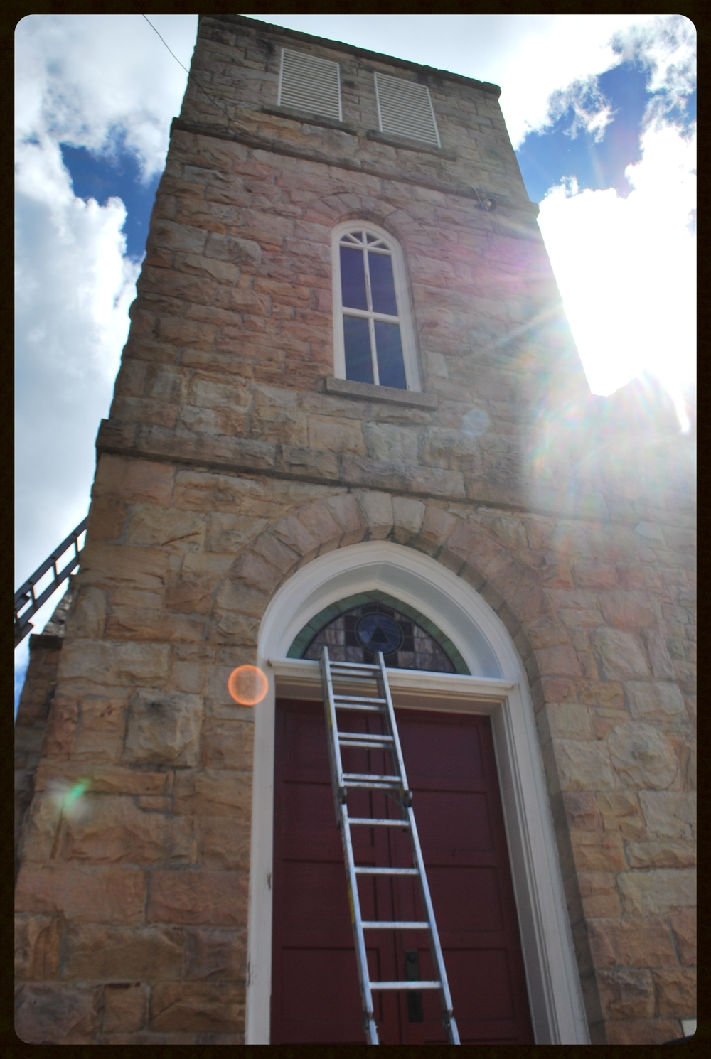 Photo of the window restoration work
