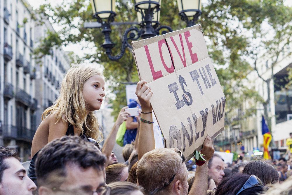 26.08.2017 Barcelona peace manifestation - No Tinc Por