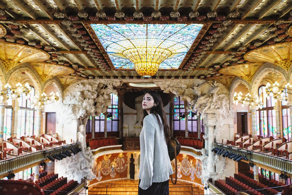 Marila Wanders discovering Palau de la Música Catalana