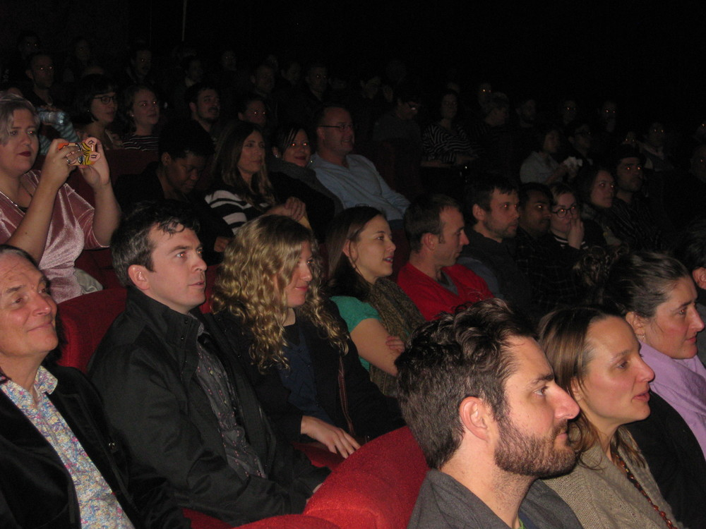 Rapt audience watching The Coffee Man indiefilm