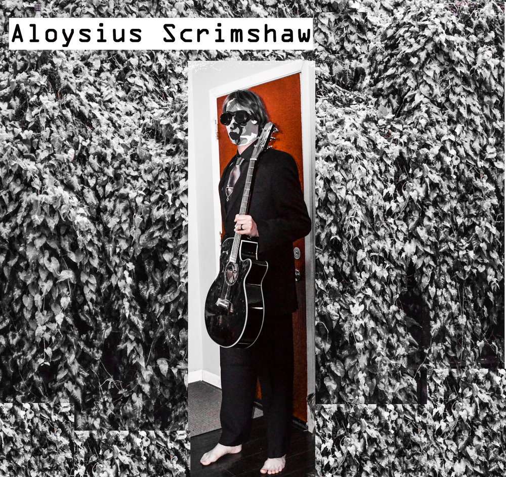 Aloysius Scrimshaw with guitar