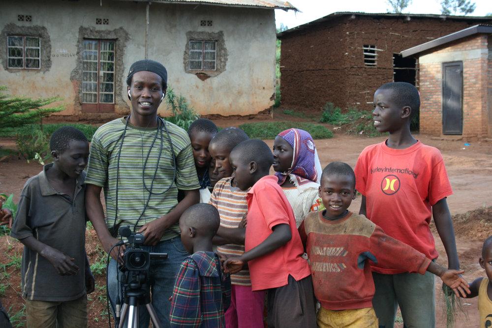 Fabrice, independent filmmaker in Rwanda