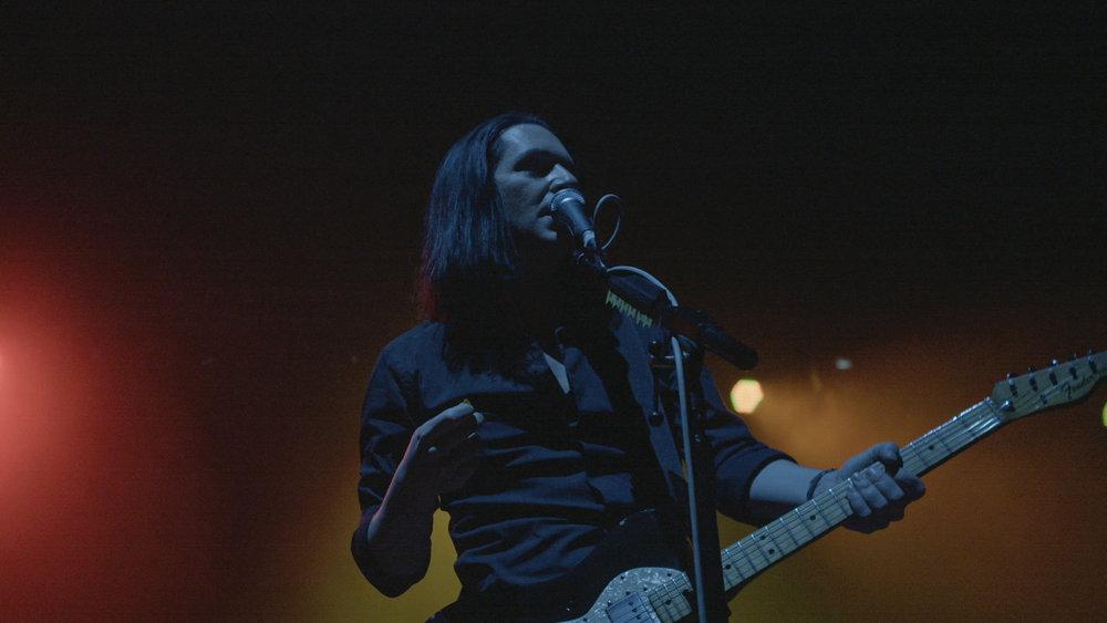 Brian Molko onstage