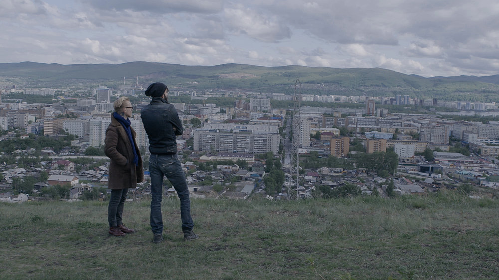 Stefan and Steve overlooking the city